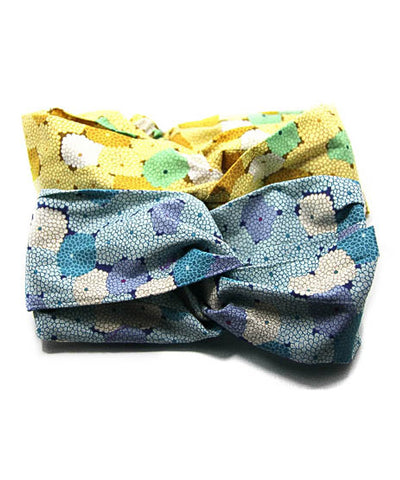 Cotton fabric / Floral Print Japanese Fabric  Twisted Headband