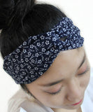 Plum Blossom Print Japanese headband / Cotton fabric head band