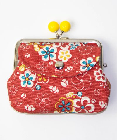 Ume Brocade Twin Gamaguchi Wallet / Plum flower Coin Purse