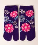 Retro Flower Tabi Socks / High Quality Japanese Ankle Socks