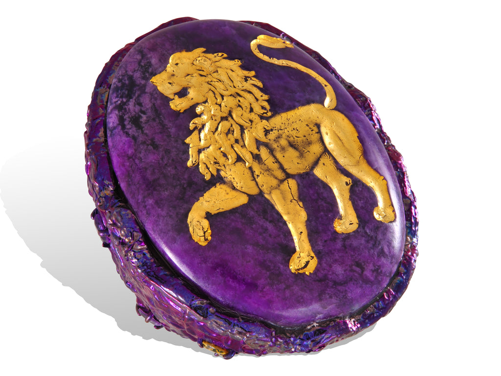 Lion intaglio ring