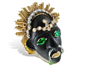 African mask ring