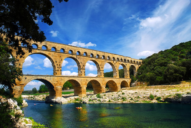 The Pont du Gard in Nimes, France