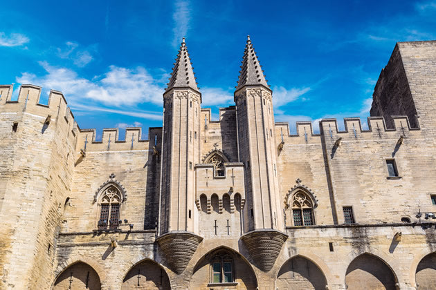 "The ""Pope's Palace"" in Avignon"