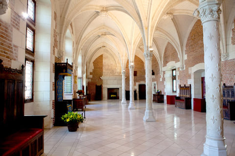 The interior of Amboise castle in the Loire Valley
