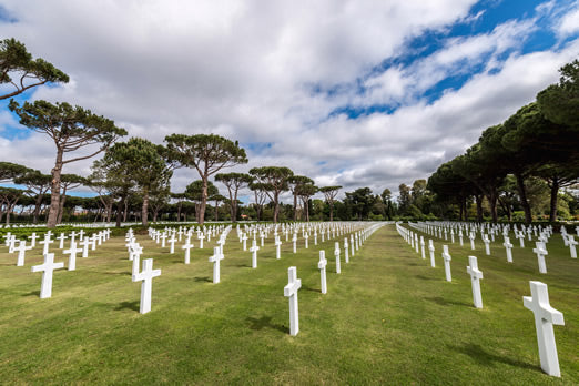 The American Cemetery at Colleville-sur-Mer.