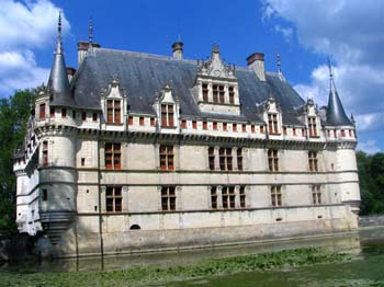 Azay-Le-Rideau castle in the Loire Valley, France.