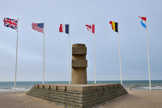 An image of the Canadian WWII Memorial at Bernieres-sur-Mer.