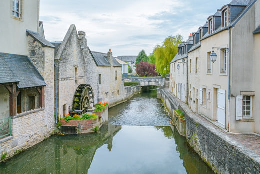 The small town of Bayeux in Normandy, France.