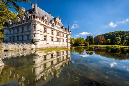 See Chateau Azay-le-Rideau castle in the Loire Valley.