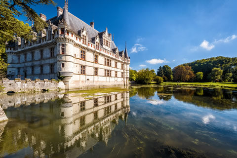 Chateau D'Azay-Le-Rideau castle in the Loire Valley, France