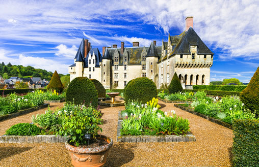 The exterior of Château de Langeais in the Loire Valley.