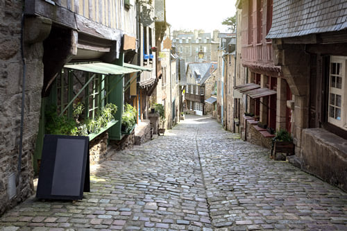 The medieval town of Dinan