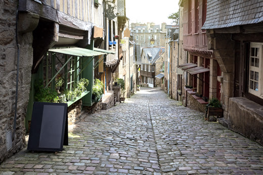 Medieval streets in Dinan, France
