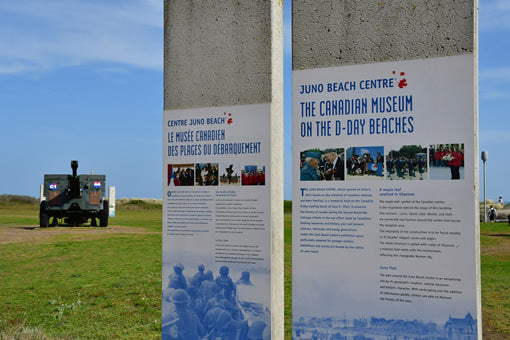 An information placard at the Juno Beach Centre in Normandy, France.