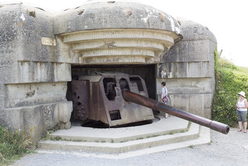 Longues Sur Mer, France - German gun battery