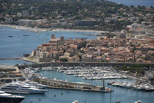 The public harbor at Antibes.