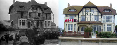 Bernieres-sur-Mer, then and now