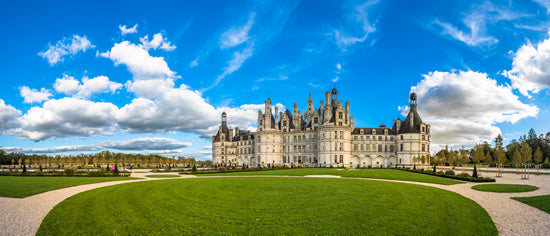 Chambord castle on a sunny day in the Loire Valley, France..