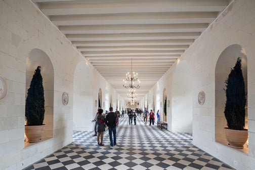 Interior of Chenonceau Castle