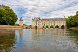 Chenonceau from the Loire river