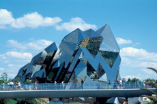 The exterior of the Futuroscope in the Cognac region of France.