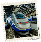 TGV rail in France from Paris to the Loire Valley
