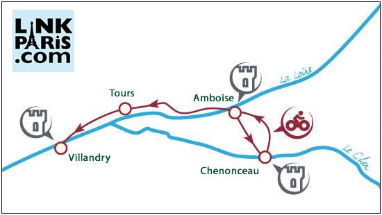 Loire Valley Cycling Tour Map