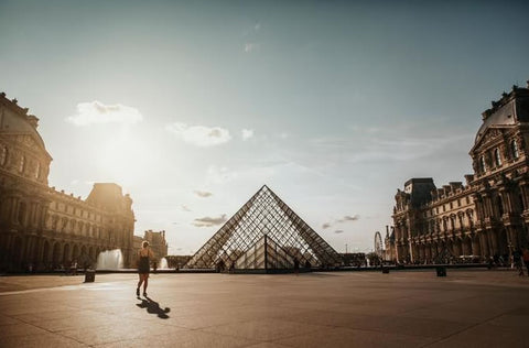 The Louvre in the morning in Paris, France