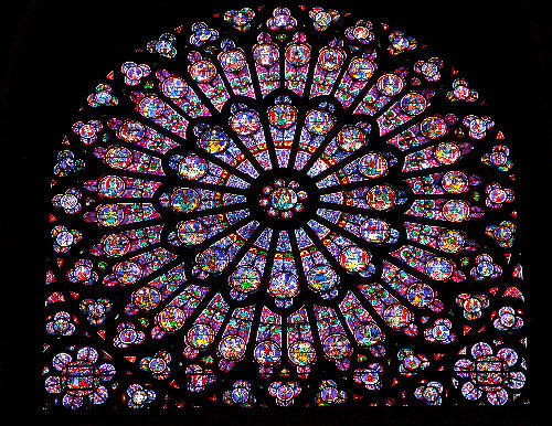 Stained Glass at Notre Dame