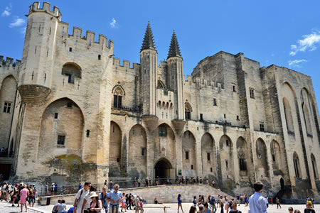The Pope's Palace in Avignon.