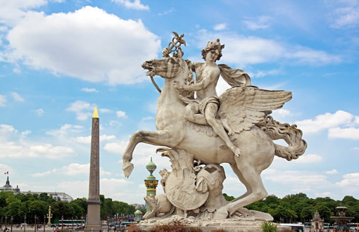 A statue in the Tuileries Garden.