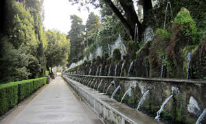 The fountains at the Villa d'Este in Italy.
