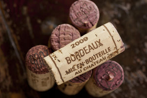 A cork of Bordeaux wine.