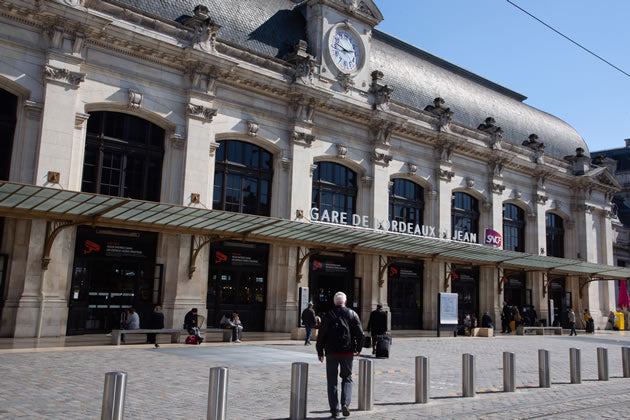 The main rail station in Bordeaux, France.