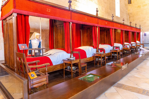 Beds at the Hospices de Beaune.