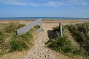 The entrance to Juno Beach at Courseulles-sur-Mer, France.