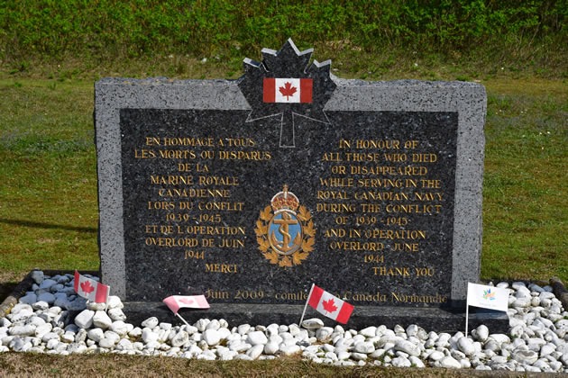 A World War II memorial to Canadian soldiers in Normandy, France.
