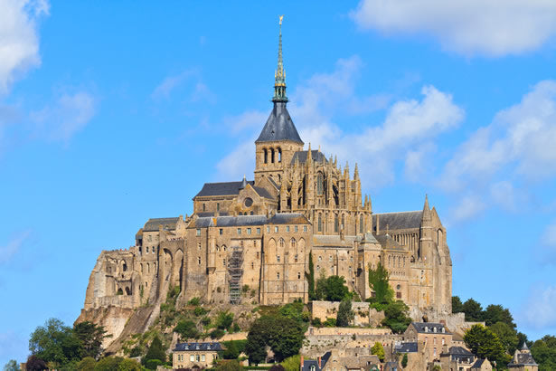 Historic Mont St. Michel abbey in Normandy.
