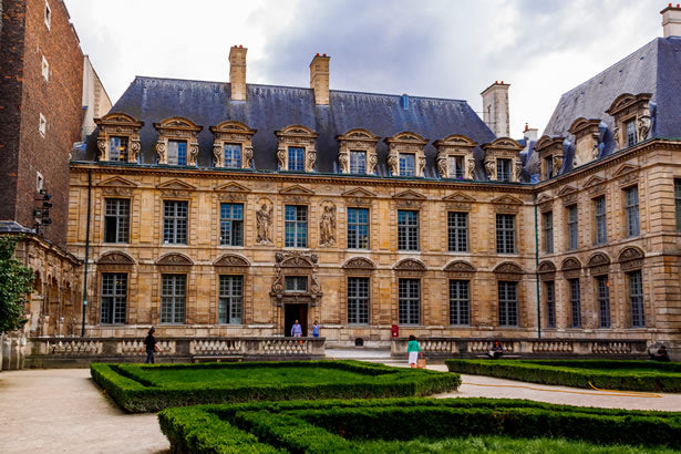 A classic building on the left bank in Paris.
