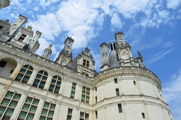 The exterior of Chambord castle.