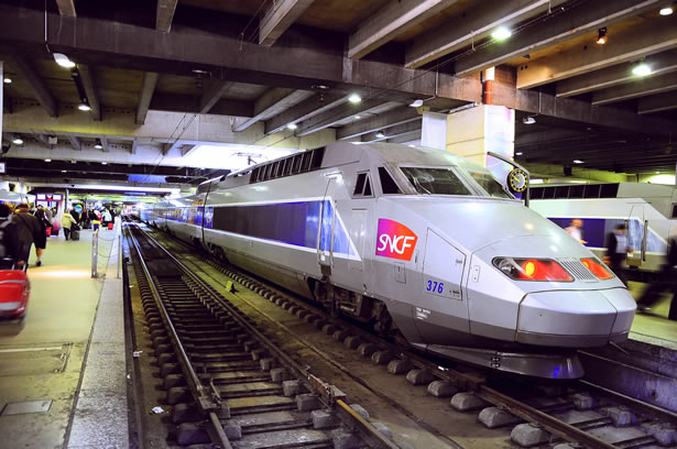 A Paris TGV train ready to travel to the Loire Valley.