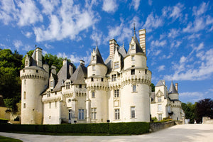 The exterior of beautiful Usse castle in the Loire Valley.