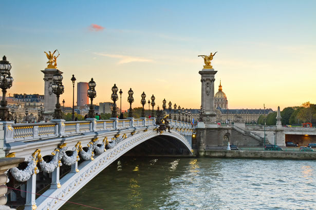 The Alexandre III bridge in Paris, France.  Part of our Paris bike tour.