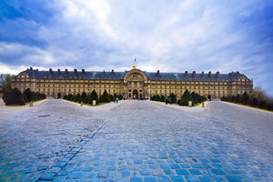The exterior of Les Invalides in Paris, France.