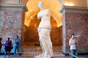 The Venus de Milo in the Louvre Museum in Paris.