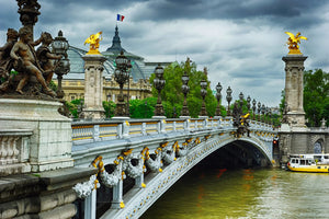 The Alexandre III bridge in Paris, France.