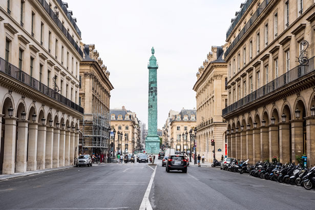 The column at the Place Vendome in Paris.