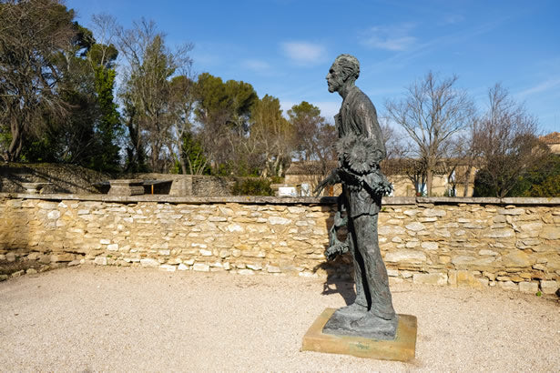 A statue of Vincent Van Gogh in Provence, France.