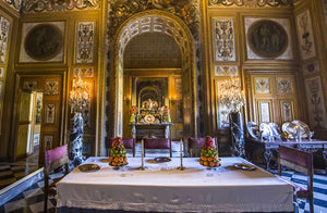 A dining room in Vaux Le Vicomte castle.